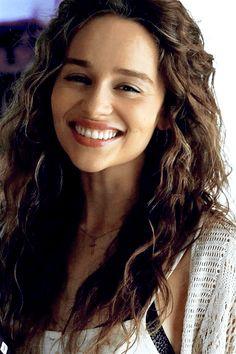 """Emilia Clarke on the set of ""Above Suspicion"" """