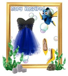 """""""Dory Inspired Halloween Outfit"""" by valegarcia-reader ❤ liked on Polyvore featuring Jezzelle and Improvements"""