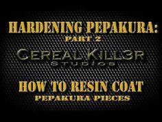 ▶ How To Harden Pepakura (Part 2) - Resin Coating Pepakura Pieces - YouTube