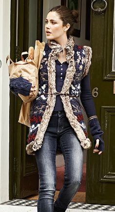 Gorgeous, this vest. Love the gloves with it. Also, the bread. The bread is nice,