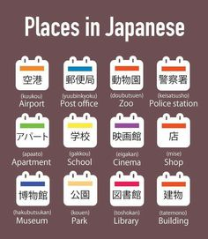 places in japanese