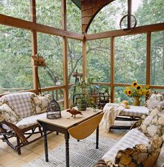 rustic porches | Rustic Screened Porch - 42-17390944 - Rights Managed - Stock Photo ...
