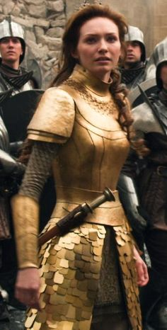 Princess Isabelle from Jack the Giant Slayer<< Finally! Some female armour that actually would protect you!