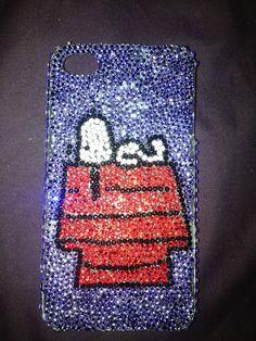 Snoopy Swarovski Rhinestone iPhone 4/4s Case by BowsAndClips, $70.00