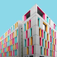 Paul Eis Reimagines German Architecture By Adding Some Colour Himself #inspiration #photography