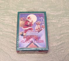 Vintage Gibson Christmas Santa Claus reindeer toys playing card swap deck by BigGDesigns on Etsy