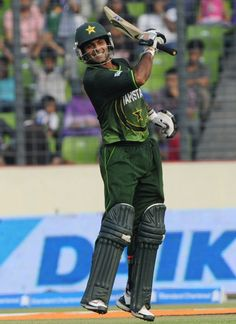 Mohammad Hafeez celebrates his century enthusiastically vs India, Asia Cup, Mirpur, March 18, 2012