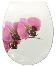 WC-Sitz mit dem wunderschönen Orchideen-Motiv in Rosetönen mit Absenkautomatik. Gesehen für € 46,95 bei kloundco.de. Wc Sitz, Plates, Tableware, Toilets, Orchids, Nice Asses, Licence Plates, Dishes, Dinnerware