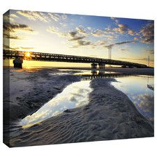 'Hatteras Pools and Bridge' by Steven Ainsworth Gallery Wrapped on Canvas