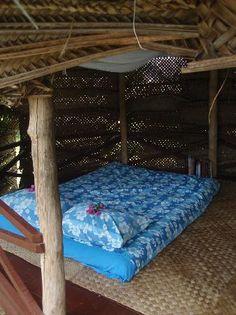 Bed in Samoan fale