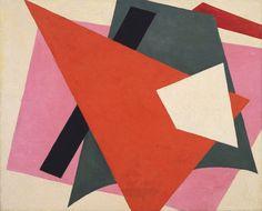 "Lyubov Popova (Russian, 1889-1924) 1917. Oil on canvas, 31 1/2 x 38 5/8"" (80 x 98 cm)."