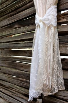 Vintage Lace Bridal Sash in Ivory by ProjectU on Etsy, $30.00