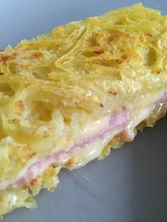 Croque sir of potatoes No Salt Recipes, Cooking Recipes, Healthy Recipes, Food Porn, Food Inspiration, Love Food, Food And Drink, Yummy Food, Nutrition