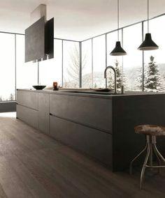 Moderne Küchen mit Kochinsel küchenblock freistehend glanz | Küche ... | {Küchenblock freistehend rustikal 92}