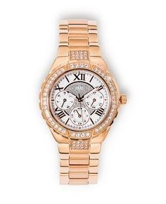 Guess Watch *Prices Valid Until 25 Dec 2013 Gold Jewelry, Fine Jewelry, Crossed Fingers, Michael Kors Watch, Gold Watch, Silver Rings, Bling, Watches, Diamond