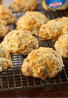 Chicken broth, garlic, and shredded cheddar cheese add great flavor to these tender and flaky biscuits. Serve this recipe for Cheddar & Garlic Biscuits tonight and see how fast they disappear! Plus, you'll love tackling this homemade baked good creation. Entree Recipes, Fall Recipes, Dinner Recipes, Kitchen Recipes, Cooking Recipes, Bread Recipes, Chicken Broth Recipes, Recipe Chicken, Campbells Soup Recipes