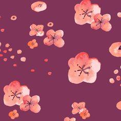 Haiku - Cherry Blossoms from Monaluna Fabrics - Organic Cotton Lawn Fabric
