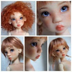 Laryssa Faun Commission with modded ears by Dajm and Faceup by Mjusi via The Resin Cafe