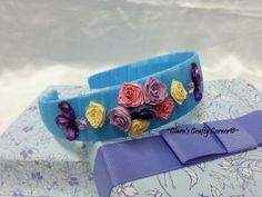 Starry Rosy Headband - Blue