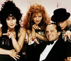 Jack Nicholson, Susan Sarandon, Michelle Pfeiffer & Cher in The Witches of Eastwick