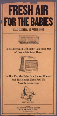 Fresh Air for the Babies – Creepy Vintage Info Sheet