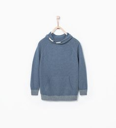 Image 1 of Knit sweater with wrap collar from Zara