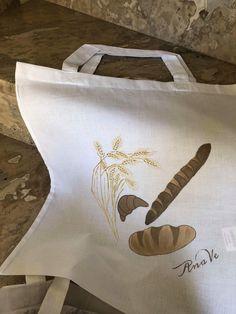 Handpainted shopping bags 🛒 Shopping Bags, Reusable Tote Bags, Hand Painted, Shopping Bag, Produce Bags