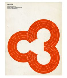 "Cool cover for the 1969 Chicago 3 design annual. Consists of three ""C's"" or if you look from left to right, the letter ""C"" and the #"" 3″."