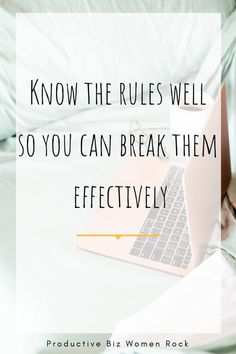 Know the rules well before you break them     #productivity101  #productivityatitsbest    That   Productive Feeling | Productivity Work Productivity, Productivity Quotes, Time Management Skills, How To Stop Procrastinating, Life Plan, Achieve Success, Getting Things Done, Organize, How To Plan