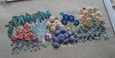 My Blue Garden - embroidery Kit by Canevas Folies - Switzerland.