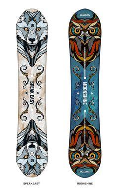 Andreas Preis - Burton // BYVM Contest - deck designs - moonshine and speakeasy