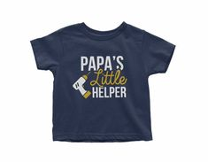 Shop this Papas little helper or our set of Papa and Papas Little Helper - Father and Son Drill Machine Matching T-shirts. It can be great gift for Grandpa and Grandson as well. Find more matching family t-shirts in our Daddy and Me collection. ➽ PRICE FOR 1 T-SHIRT ➽ Listing for 2 T-shirts: Matching Family T Shirts, Grandpa Gifts, Father And Son, Sons, Daddy, Drill, Etsy, Cl, Shopping