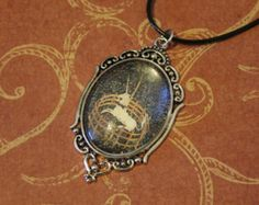 The Unicorn in Captivity Medieval Tapestry Silver Pendant Glass Cabochon on Black Cord The Last Unicorn Hunt of the Unicorn cloisters Met