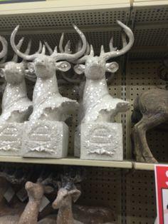 Glitter deer sculpture