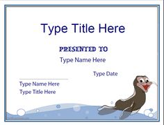 swimming certificate template free