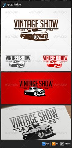 Vintage Show  - Logo Design Template Vector #logotype Download it here: http://graphicriver.net/item/vintage-show-logo-templates/4537929?s_rank=1701?ref=nexion