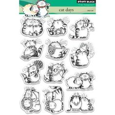 Penny Black - Clear Photopolymer Stamps - Cat Days