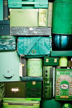 Shades of green storage  #lifeinstyle #greenwithenvy