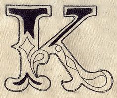 Cirque Letter K | Urban Threads: Unique and Awesome Embroidery Designs