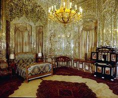 Teheran. Dormitorio en el Palacio Imperial de Saadabad
