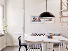 A grey and white Swedish home