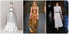 Categoria Retrô (inspirada no passado histórico)  McQueen - Pré Fall 2012 Inspiração: Era Vitoriana / Dolce e Gabbana - Fall/Winter 2013 Inspiração: Império Bizantino  / Herchcovitch - Fall 2014 Inspiração: Camisolas do Séc XIX (releitura) #trendfall2015 #unatrend2015