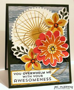 Stampin' Up! Card: flower patch awesomeness with kinda eclectic