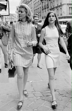 Lauren Bacall with daughter Leslie Bogart, 1960s.