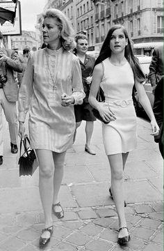 Lauren Bacall with daughter Leslie Bogart, 1960s.