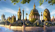 "London. Willy Wonka artist and photographer Carl Warner  has over ten years working on this landscapes with food, and until recently has not presented his book called ""Foodscapes"" which shows 25 of these edible landscapes."
