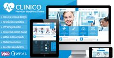 Clinico - Premium Medical and Health Theme by CreativeWS Clinico is a very powerful Medical and Health Theme suitable for medical and health related businesses.Its fresh and clean design