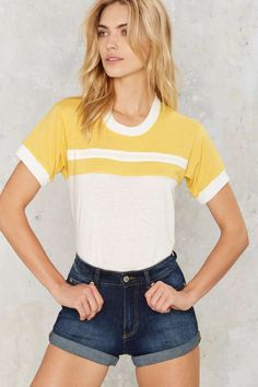 Exclusive CAMP Collection Drew Ringer Stripe Tee - Tops