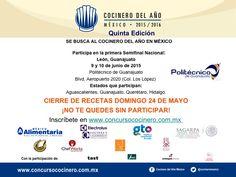 1era semifinal de Cocinero del Año México 2015-2016 en #Guanajuato