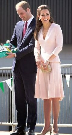 Kate Middleton - pink long-sleeved Alexander McQueen - Kate Middleton style fashion.jpg